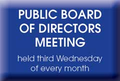 Public Board Meetings held 3rd Wed each month